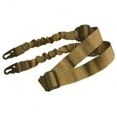Deltacs 2 Point Bungee Airsoft/Paintball Rifle Sling - Tan