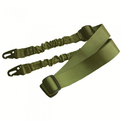 Deltacs 2 Point Bungee Airsoft/Paintball Rifle Sling - OD Green