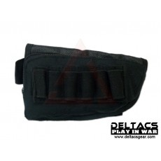 External Battery and Ammo Buttstock Pouch - Black