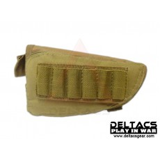 External Battery and Ammo Buttstock Pouch - Tan