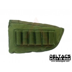 External Battery and Ammo Buttstock Pouch - OD Green