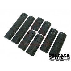 TangoDown Rail Cover Set of 8 - Black