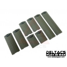 ERGO Diamond Plate Rail Cover Set of 8 - OD Green