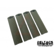 ERGO Diamond Plate Rail Cover Set of 4 - OD Green