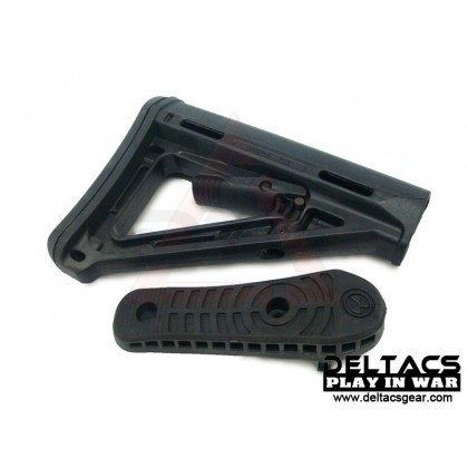 Magpul PTS MOE Stock with Buttpad  - Black