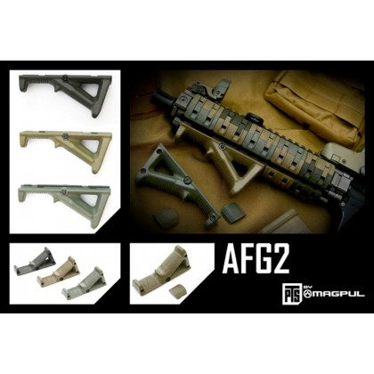 Magpul PTS AFG2 (Angled Fore Grip) Rail-Mounted Forward Grip - Dark Earth