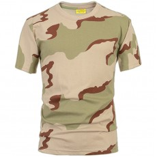 Deltacs Camouflage Cotton T-Shirt - Three Color Desert