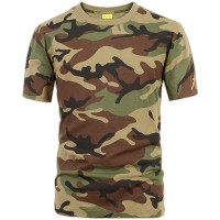 Deltacs Camouflage Cotton T-Shirt - Woodland