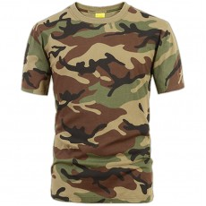 Deltacs Camouflage Cotton T-Shirt - Woodland