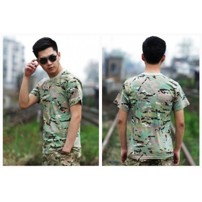 Deltacs Camouflage Cotton T-Shirt - Multicam