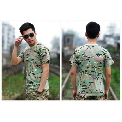 Deltacs Camouflage Cotton T-Shirt - Multicam