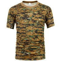 Deltacs Camouflage Quick Dry T-Shirt - Digital Woodland