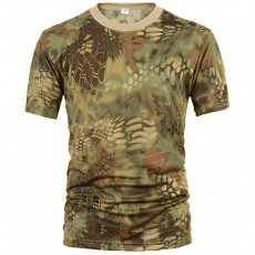 Deltacs Camouflage Quick Dry T-Shirt - Mandrake