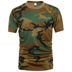 Deltacs Camouflage Quick Dry T-Shirt - Woodland
