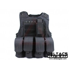 Deltacs FSBE Tactical Vest with Pouches - Black