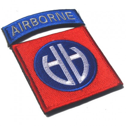 82nd Airborne Division Velcro Patch - OD Green
