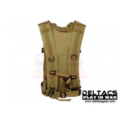Deltacs Tactical Hydration Back Pack - Tan