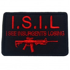 ISIL I See Insurgents Losing Velcro Patch - Black/Red