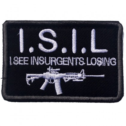 ISIL I See Insurgents Losing Velcro Patch - Black/White