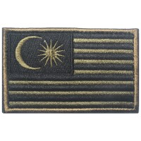 Malaysia Flag Velcro Patch - OD Green