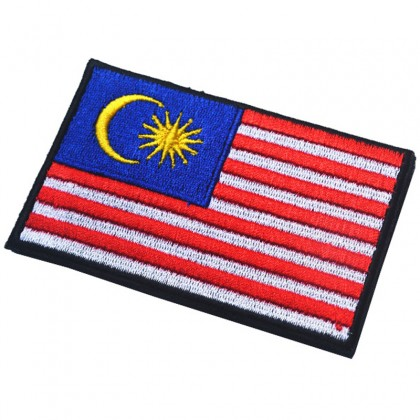 Malaysia Flag Velcro Patch - Yellow Border