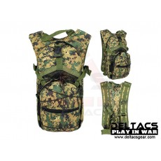 Deltacs Tactical Hydration Back Pack - Digital Woodland