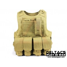 Deltacs FSBE Tactical Vest with Pouches - Tan