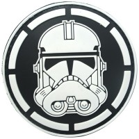 Star Wars Storm Trooper Silicon Patch - Black/White