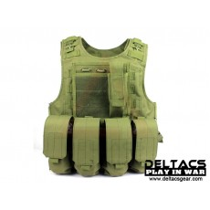 Deltacs FSBE Tactical Vest with Pouches - OD Green
