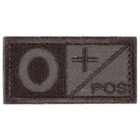 Blood Type O POS Velcro Patch - Tan