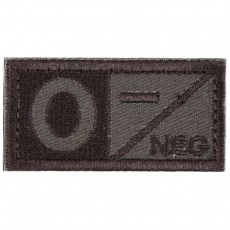Blood Type O NEG Velcro Patch - Tan
