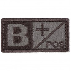 Blood Type B POS Velcro Patch - Tan