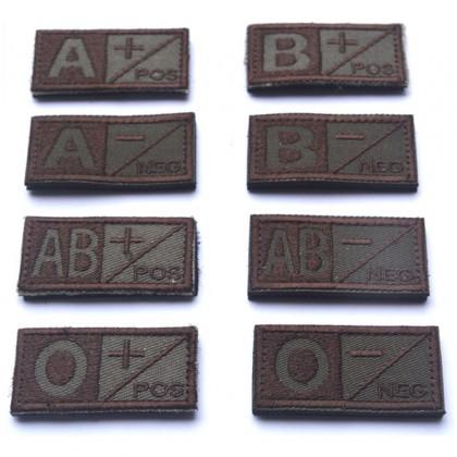Blood Type B POS Velcro Patch - Tan