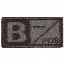 Blood Type B NEG Velcro Patch - Tan