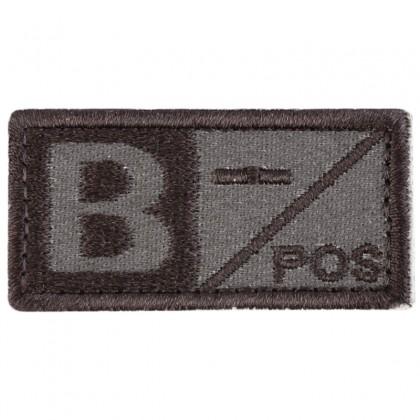 Blood Type B NEG Velcro Patch - Tan