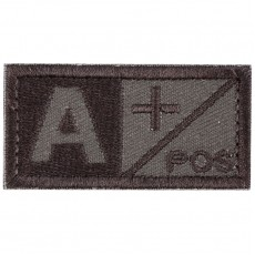 Blood Type A POS Velcro Patch - Tan