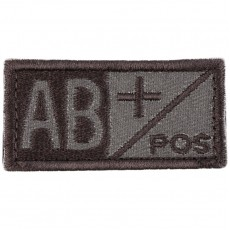 Blood Type AB POS Velcro Patch - Tan