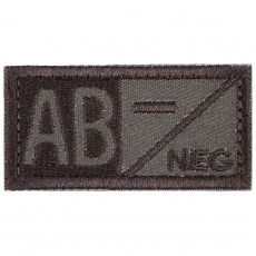 Blood Type AB NEG Velcro Patch - Tan