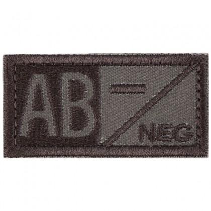 Blood Type AB NEG Velcro Patch - Tan