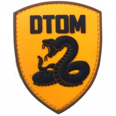 DTOM Don't Tread On Me Silicon Velcro Patch - Yellow