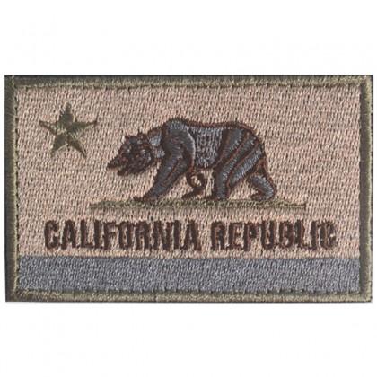 California Flag Velcro Patch - Tan