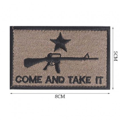 AR-15 Come And Take It Velcro Patch - Tan
