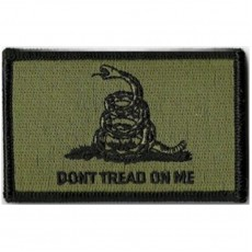 Gadsden Flag Don't Tread On Me - OD Green