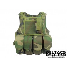 Deltacs FSBE Tactical Vest with Pouches - Woodland