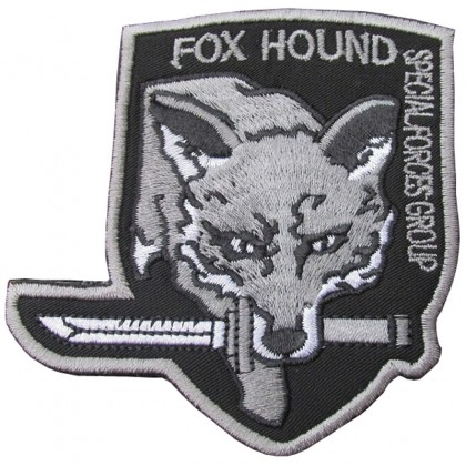 Fox Hound Special Forces Group Velcro Patch - Grey