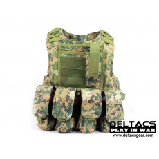 Deltacs FSBE Tactical Vest with Pouches - Digital Woodland