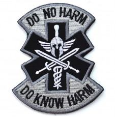 Do No Harm Do Know Harm Velcro Patch - White