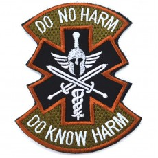 Do No Harm Do Know Harm Velcro Patch - Tan