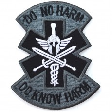 Do No Harm Do Know Harm Velcro Patch - Grey