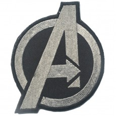 Avengers Velcro Patch - Grey